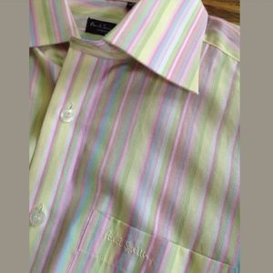 PAUL SMITH Men LS Classic Fit Dress Shirt Pastel